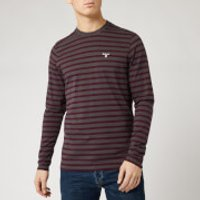 Barbour Men's Bow Long Sleeve Stripe T-Shirt - Charcoal - XXL