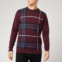 Barbour Men's Elgin Jacquard Crew Neck Sweatshirt - Merlot - L
