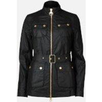 Barbour International Womens Guard Wax Jacket - Black - UK 8