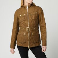 Barbour International Women's Guard Wax Jacket - Sand - UK 8