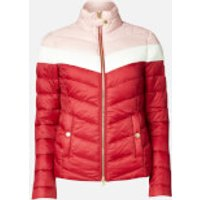 Barbour International Women's Auburn Blocked Quilted Jacket - Rhubarb/Clud/Blusher - UK 10