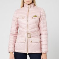 Barbour International Women's Gleann Quilted Jacket - Blusher - UK 16