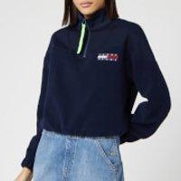 Tommy Jeans Women's Fleece 1/4 Zip - Black Iris - M