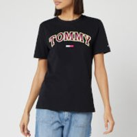 Tommy Jeans Women's Neon Collegiate T-Shirt - Tommy Black - L