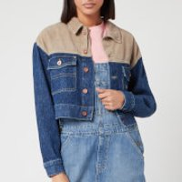 Tommy Jeans Women's Cropped Trucker Jacket - New Care Mix Rig - M