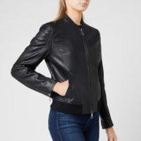 BOSS Womens Jamegan Leather Jacket - Black - XS