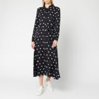 BOSS Women's Elkas Polka Dot Shirt Dress - Black - UK 10