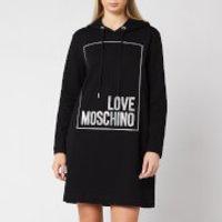 Love Moschino Women's Logo Box Hoody Dress - Black - IT 42/UK10