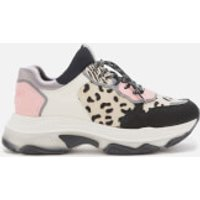 Bronx Women's Baisley Running Style Trainers - Black/Dalmatian/Blush - UK 8