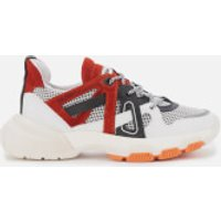 Bronx Women's Seventy Street Running Style Trainers - Off White/Black/Orange - UK 7