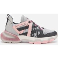 Bronx Women's Seventy Street Running Style Trainers - Black/Grey/Blush - UK 5