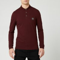 BOSS Men's Passerby Polo Long Sleeve Shirt - Red - S