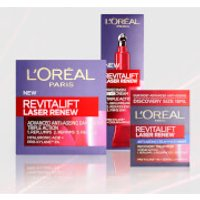 L'Oreal Paris Revitalift Laser Renew Anti-Ageing Skincare Moisturiser Set (Worth PS51.97)