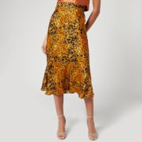 Bec & Bridge Women's Turtle Rock Midi Skirt - Tortoise Print - UK 12