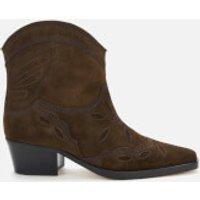 Ganni Women's Low Texas Western Style Boots - Mole - UK 5