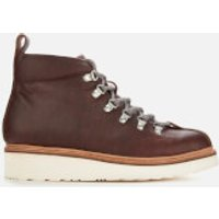 Grenson Men's Bobby Oily Pull Up Grained Leather Hiking Style Boots - Brown - UK 8