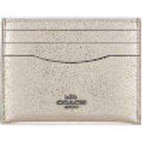 Coach Women's Metallic Flat Card Case - Platinum