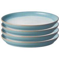 Denby Azure Haze 4 Piece Coupe Dinner Plate Set