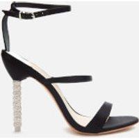 Sophia Webster Women's Rosalind Crystal Triple Strap Heeled Sandals - Black - 7