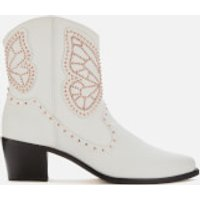 Sophia Webster Women's Shelby Cowboy Boots - White/Rose Gold - 4