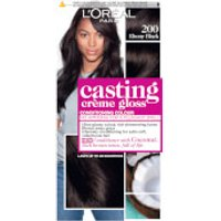 L'Oréal Paris Casting Crème Gloss Semi-Permanent Hair Dye (Various Shades) - 200 Ebony Black
