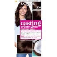 L'Oreal Paris Casting Creme Gloss Semi-Permanent Hair Dye (Various Shades) - 300 Darkest Brown