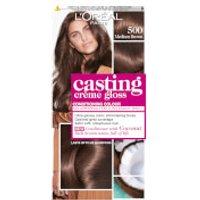 L'Oreal Paris Casting Creme Gloss Semi-Permanent Hair Dye (Various Shades) - 500 Medium Brown