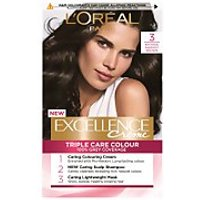 L'Oreal Paris Excellence Creme Permanent Hair Dye (Various Shades) - 3 Natural Darkest Brown