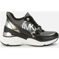 MICHAEL MICHAEL KORS Womens Mickey Chunky Running Style Trainers - Sterling - UK 5/US 8