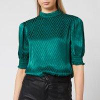 Ted Baker Women's Tiarie Bluson Puff Sleeve Top - Green - UK 16