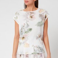 Ted Baker Women's Kcarmaa Woodland Woven Front Top - Ivory - UK 8