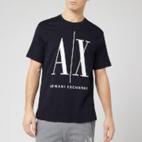 Armani Exchange Men's Large Ax Logo T-Shirt - Navy - XXL