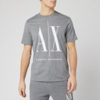 Armani Exchange Men's Large Ax Logo T-Shirt - Grey - M