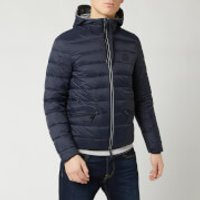 Armani Exchange Men's Padded Hooded Jacket - Navy/Melange Grey - L