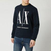 Armani Exchange Men's Large AX Logo Sweatshirt - Navy - XXL
