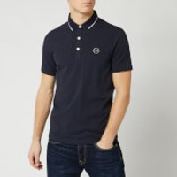 Armani Exchange Men's Small Logo Polo Shirt - Navy - S