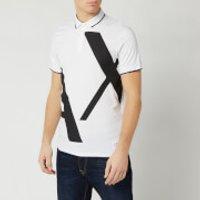 Armani Exchange Men's Large Logo Polo Shirt - White - XL