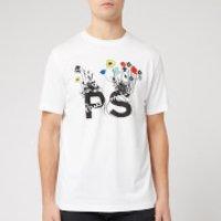 PS Paul Smith Men's Regular Fit Flowers T-Shirt - White - M