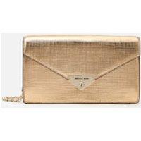 shop for MICHAEL MICHAEL KORS Women's Grace Medium Envelope Clutch - Pale Gold at Shopo