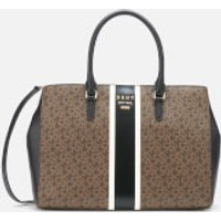 DKNY Women's Whitney Logo East West Tote Bag - Mocha/Black