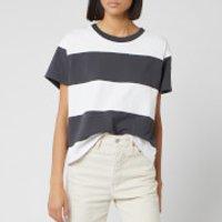 Levi's Women's Rugby Stripe Parker Short Sleeve T-Shirt - Black/White - L