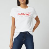 Levi's Women's The Perfect T-Shirt Box Outline - White - S