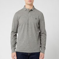 Polo Ralph Lauren Men's Custom Slim Fit Long Sleeve Polo Shirt - Canterbury Heather - L