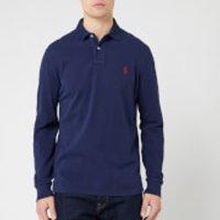 Polo Ralph Lauren Men's Custom Slim Fit Long Sleeve Polo Shirt - Navy - L