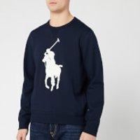 Polo Ralph Lauren Men's Large Logo Sweatshirt - Aviator Navy - M
