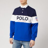 Polo Ralph Lauren Men's Polo Logo Rugby Top - Newport Navy - L