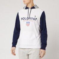 Polo Ralph Lauren Men's 1967 Logo Pop Over Hoody - White/Multi - S