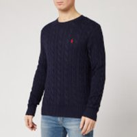 Polo Ralph Lauren Men's Cable Knit Cotton Jumper - Hunter Navy - S