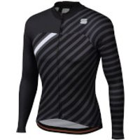 Sportful BodyFit Team Winter Jersey - S - Black/Anthracite/White