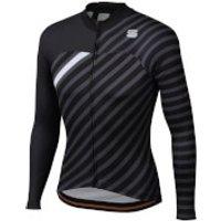 Sportful BodyFit Team Winter Jersey - XL - Black/Anthracite/White